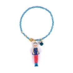 Silver doll bracelet