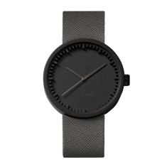 Leff Amsterdam Tube Watch D42 With Grey Cordura Strap