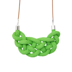 Celtic knot necklace in green apple