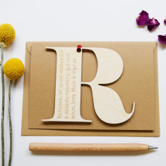 Personalised Initial Letter Get Well Soon Card
