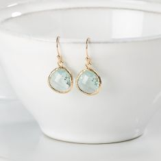 Azure and gold raindrop earrings