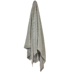 Cable Merino Throw Blanket - Mist (grey)