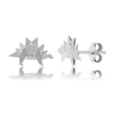 Stegosaurus Origami Stud Earrings
