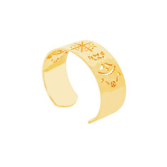 Beleza Cuff Bangle in 18 KT Yellow Gold Plate