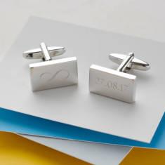 Personalised Engraved Infinity Anniversary Cufflinks