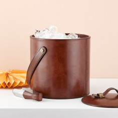 Leather Personalised ice bucket