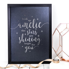 Personalised The Stars Are Shining Bright For You Foil Print