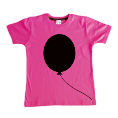 Kids' chalkboard t-shirt in pink balloon design