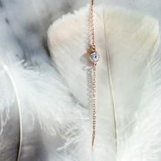 Solitaire bracelet 18k rose gold vermeil
