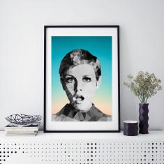 Geometric Twiggy art print