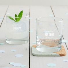 Personalised Groom Tumbler Glass
