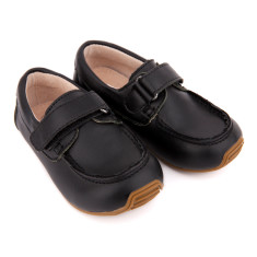 Kids' deck shoes in black