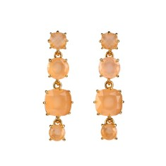 Four stones honey diamantine earrings