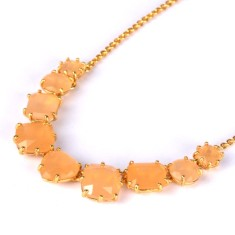 Nine stones honey diamantine necklace