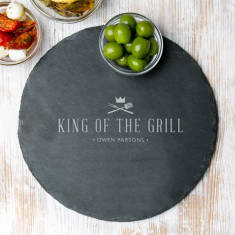 Mens Large 'King Of The Grill' Serving Board