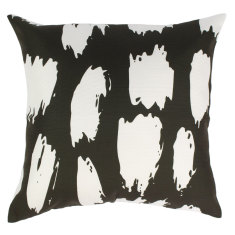 Indoor Cushion in Black & White Animal