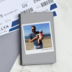 Personalised Polaroid Photograph Passport Cover
