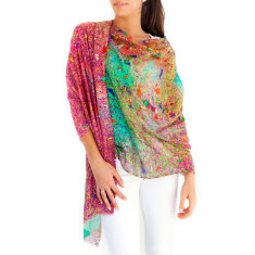 Women's Cotton Silk Scarf and Sarong, Glitter