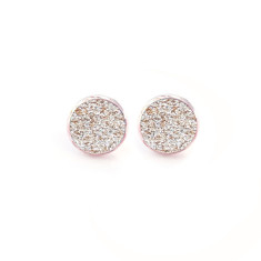 Rose gold studs and matching gift tin in gold sparkle