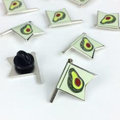 Avocado Flag Enamel Pin Badge