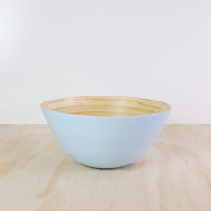 Duck Egg Blue Lacquer Bamboo Bowl