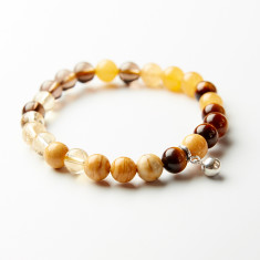 I Love chakras' crystal abundance bracelet with bell