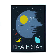 Star Wars theme framed print (various designs)