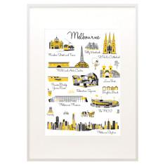 Melbourne icon print