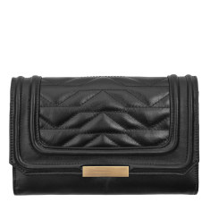 Subversive leather wallet in black