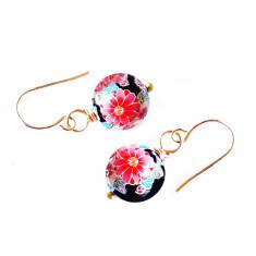 Gold Kyoto tensha earrings in noir
