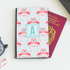 Flamingo Personalised Passport Cover