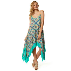 Tulum Dress in Aqua