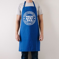 Personalised World's Best Dad Apron