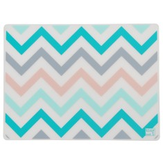 Silicone placemats in sorbet chevron (set of 4)