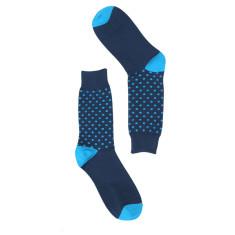 Navy & blue spot socks