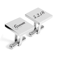 Groom personalised engraved cufflinks
