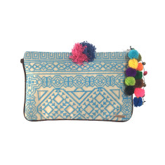 Kavali Pocket Clutch - Aqua