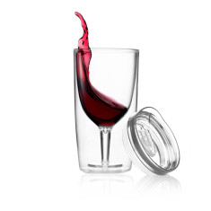 TraVino spillproof wine sippy cup in crystal