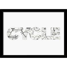CYCLE Bikes Typographic Print