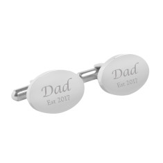 Personalised Dad est. cufflinks