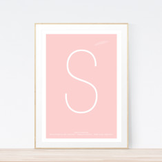 Girls' Minimal birth print (various colours)