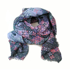 Personlised harper diamond print scarf