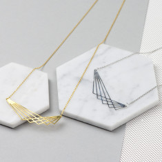 Geometric Lines Necklace