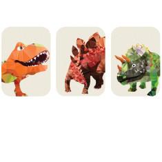 Geometric Dinosaurs art prints (set of 3)