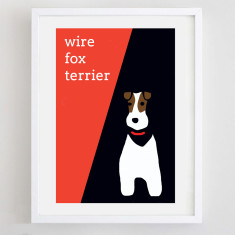 Wire fox terrier print