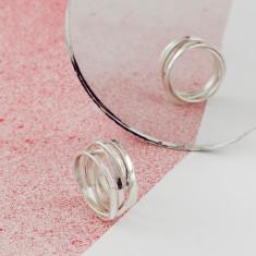 Silver Organic Scroll Ring