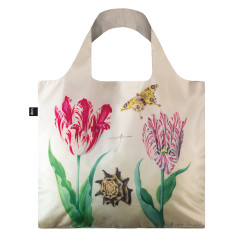 LOQI reusable bag in museum collection in two tulips