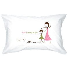 Dancing Mum single pillowcase