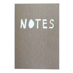 Notes notebook in white & pink (set of 2)
