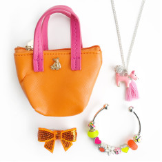Jewellery gift set with mini handbag